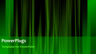 PowerPoint Template - Green curtain background